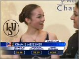 Kimmie Meissner - 2007 World Championships - kiss 'n cry