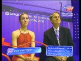 Kimmie Meissner - 2008 World Championships - kiss 'n cry